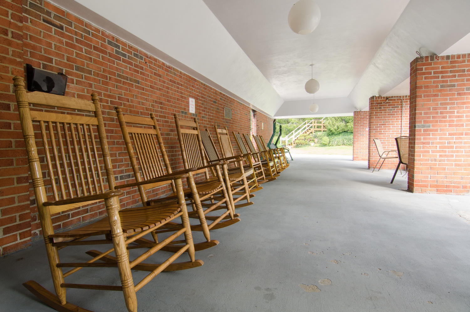 Rocking chairs for patient use at Stonerise Princeton