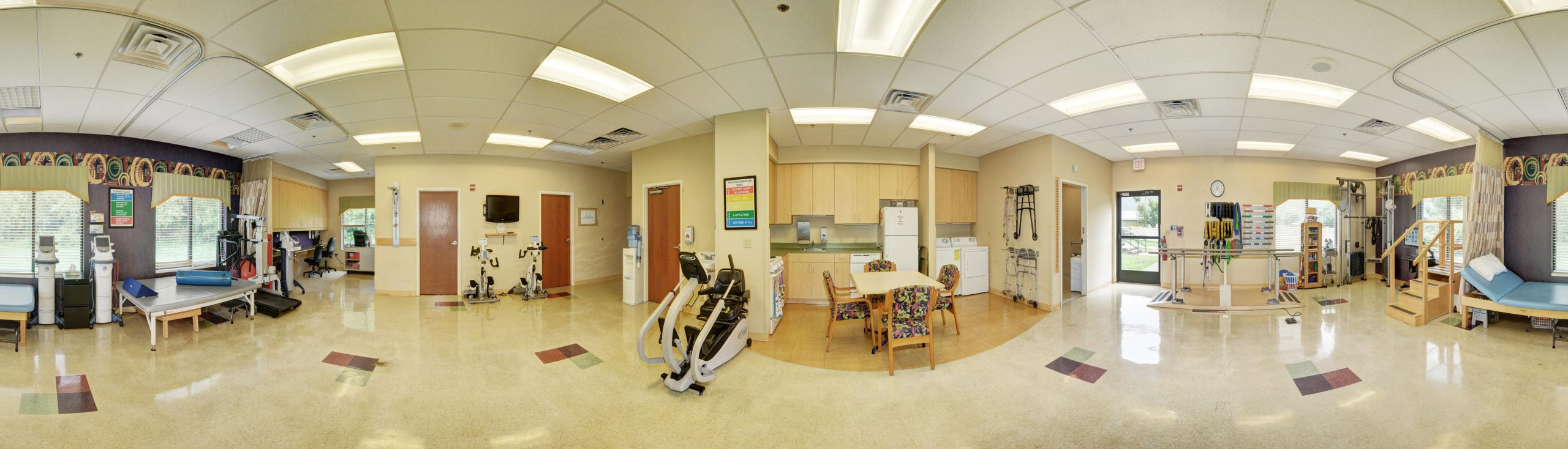 Panoramic view of Stonerise Keyser Therapy and Rehabilitation area