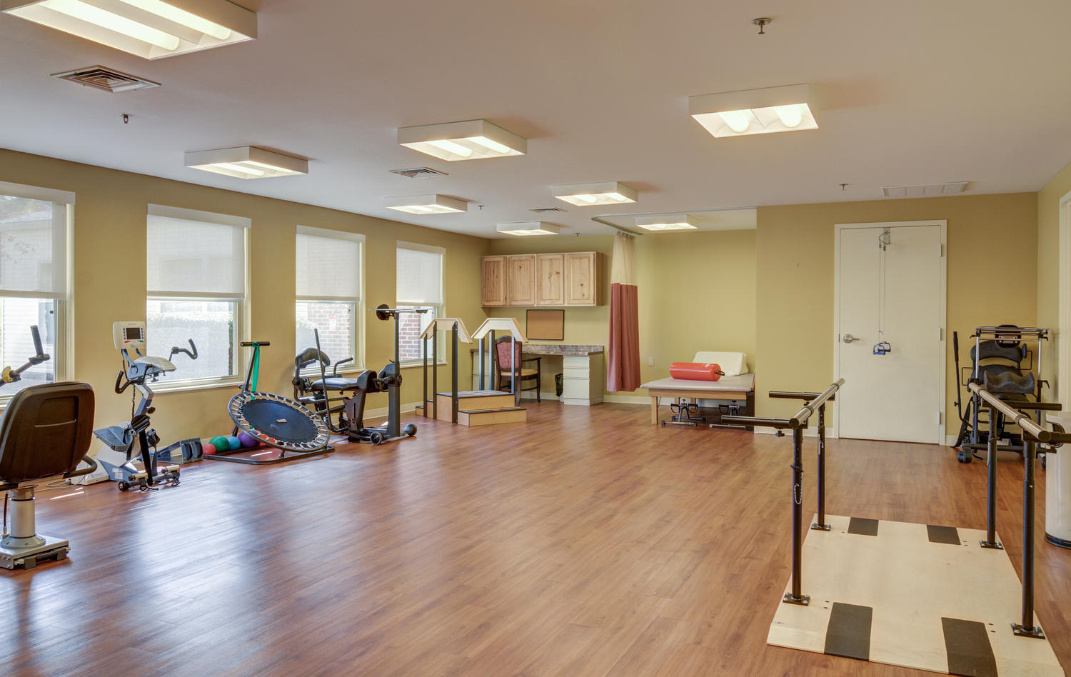 Stonerise Lindside Therapy and Rehabilitation room with equipment