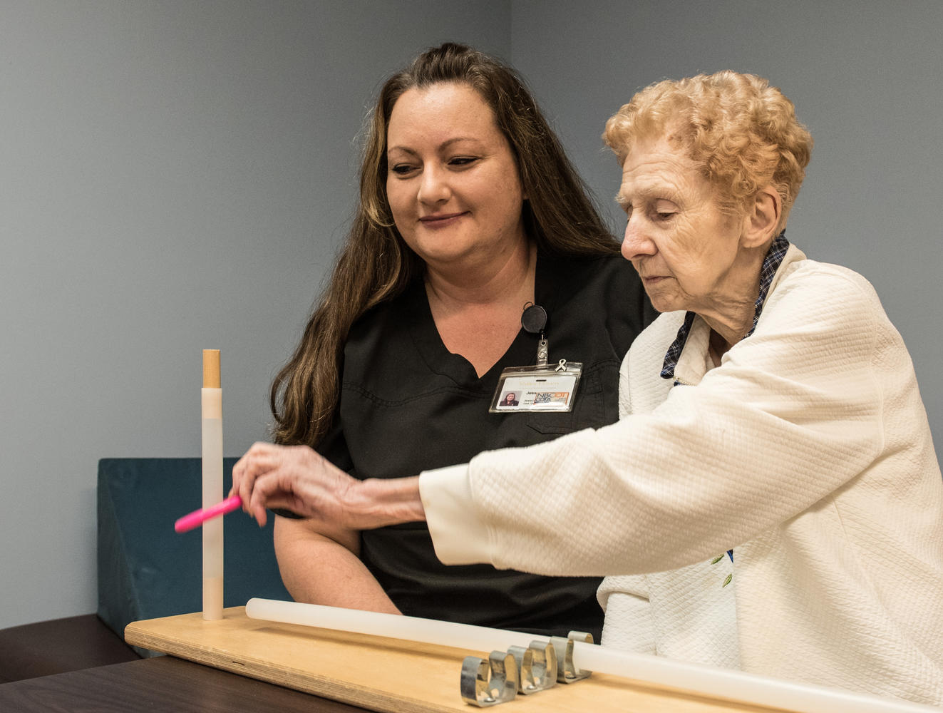 Stonerise Wellsburg Physical Therapy session with one patient and one therapist