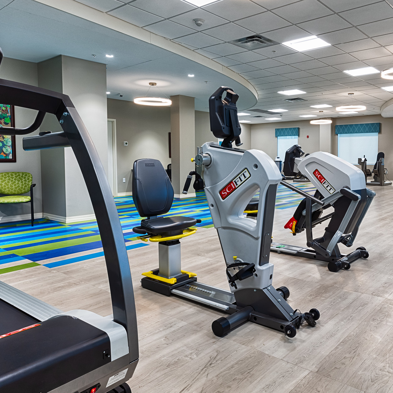 Exercise equipment in Stonerise Charleston Therapy and Rehabilitation room