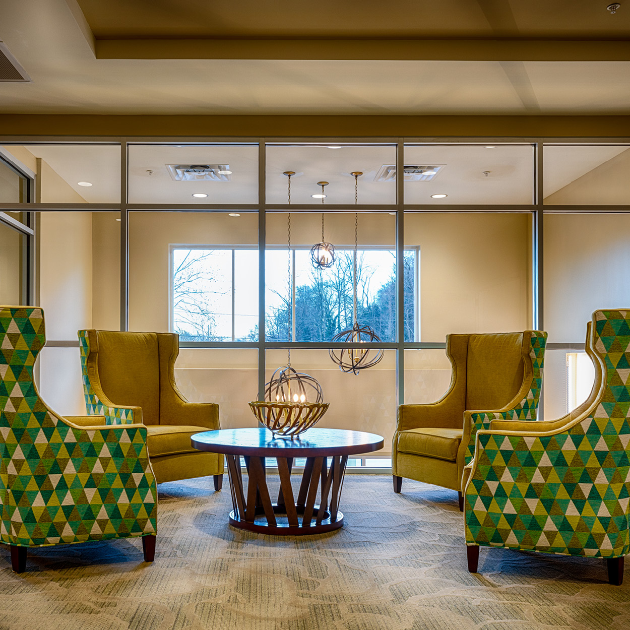Stonerise Charleston transitional and skilled nursing home facility modern common area