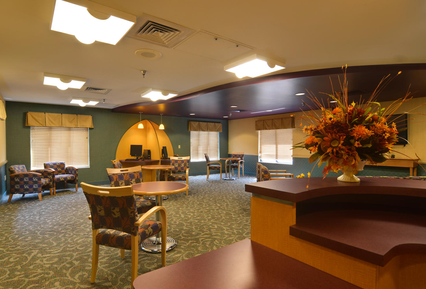 Stonerise Clarksburg skilled nursing home and transitional care facility internet cafe