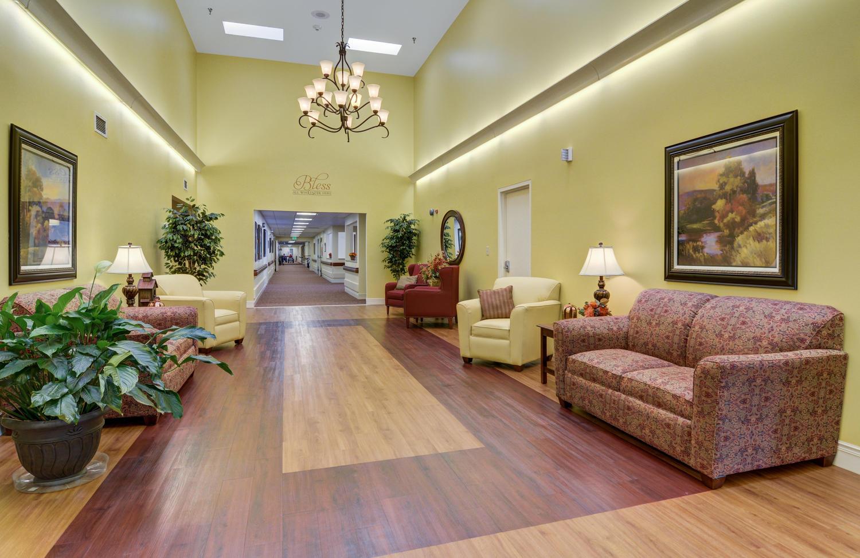 Stonerise Lindside transitional and skilled nursing home facility foyer