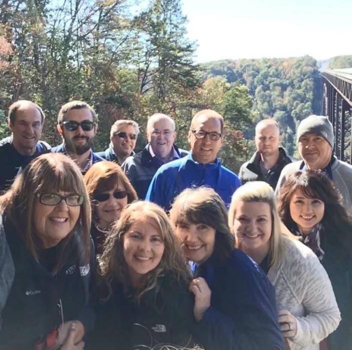 Team-building retreat in West Virginia